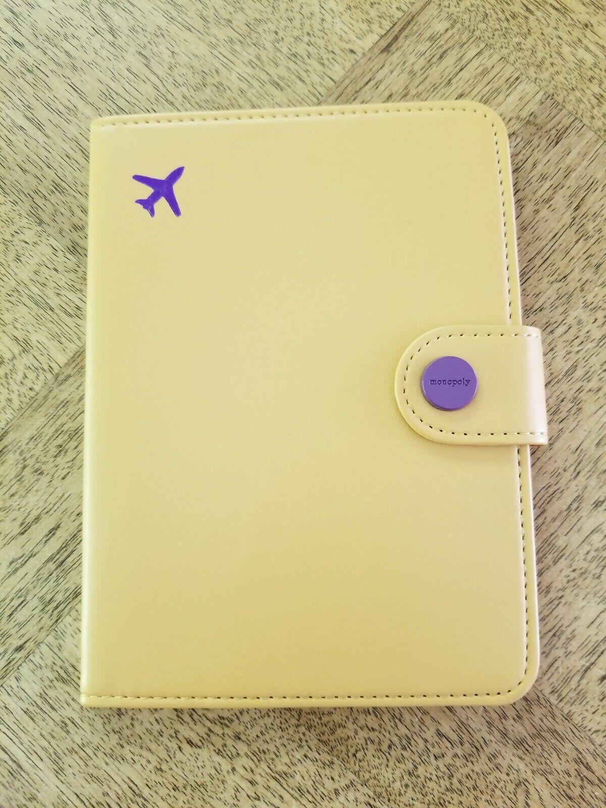 3M MONOPOLY NO SKIMMING Passport Cover-Yellow + Purple