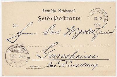 1901 China Postal Stationery Paoting to Gerresheim Feldpost Boxer Rebellion Used