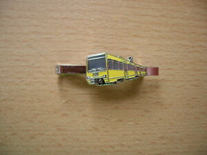 Krawattenklammer Stadtbahn Straßenbahn Würzburg gelb rot Art 8139
