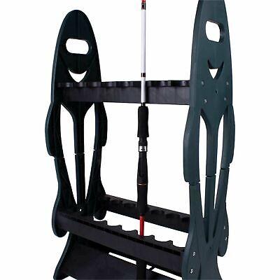 Rutenständer Angelruten Regal Rutenhalter Standrutenständer für 24 Ruten