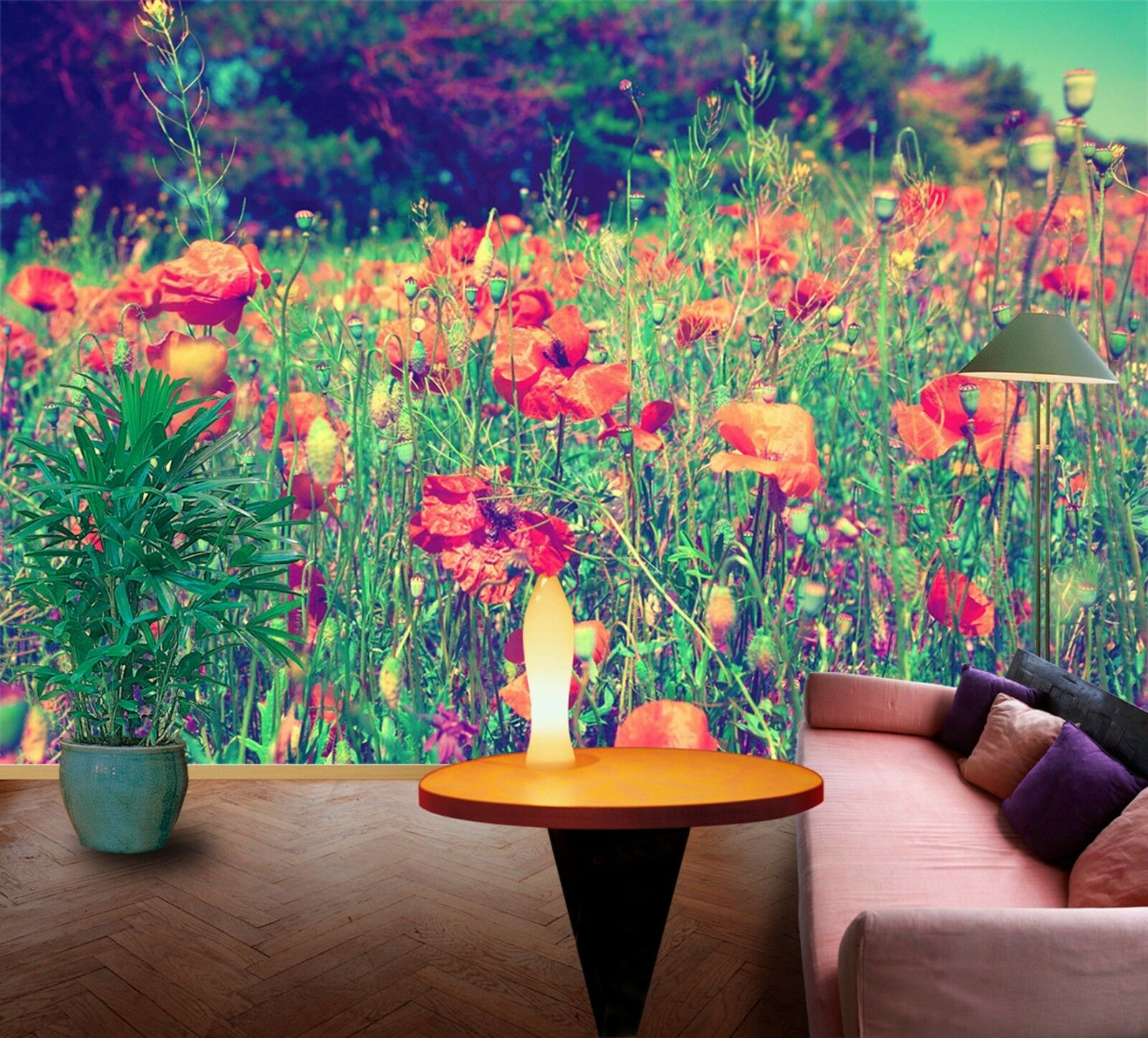 3D rot flowers 2312 Wall Paper Wall Print Decal Wall Deco Indoor Wall Murals