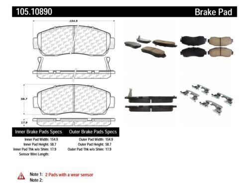 Disc Brake Pad Set Front Centric 105.10890