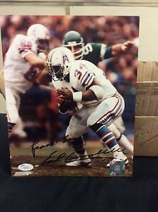 low priced ce077 83756 Details about EArl Campbell signed 8x10 photo JSA I52656 Houston Oilers  autograph