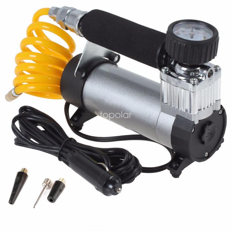 12V Heavy Duty Portable Air Compressor Car Van Tyre Tire Inflator Pump 100psc