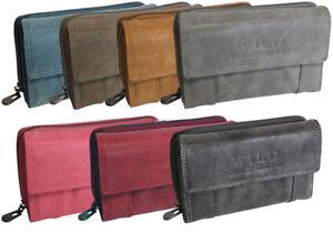Damen-Geldboerse-hochwertiges-Portemonnaie-Geldbeutel-Brieftasche-7-Farben-Gross