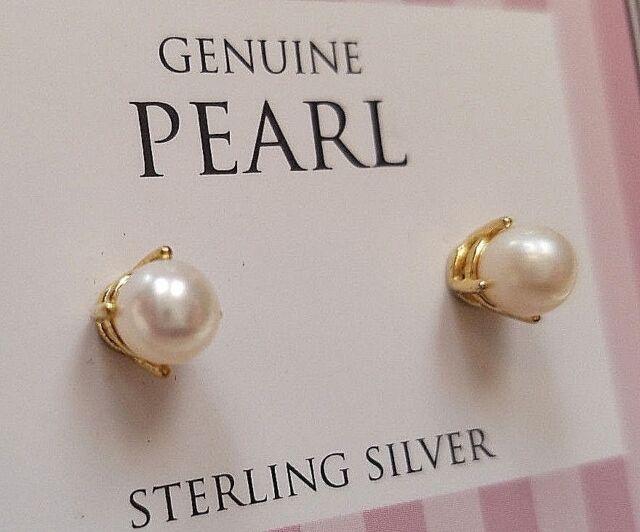 11006a49d MACY'S DESIGNER GENUINE PEARL Women 925 STERLING SILVER EARRINGS SALE 82%+  OFF