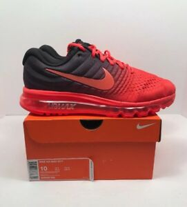 Details about Nike Air Max 2017 Mens Running Shoes Size 10 Bright Crimson MSRP $190