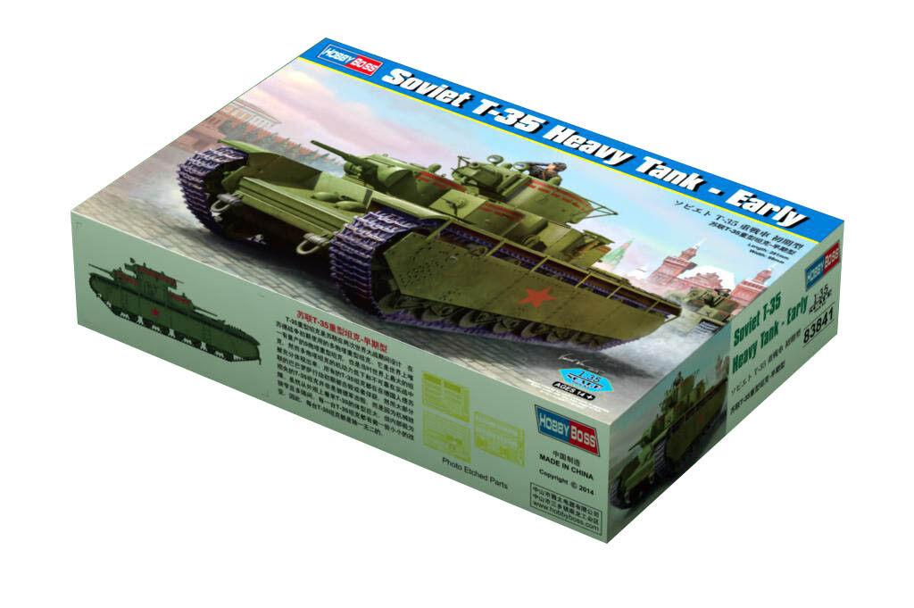 Hobby Boss 3483841 schwerer Panzer T-35 Frühe Ver. 1 35 Modell Bausatz Modellbau  | Sale Deutschland