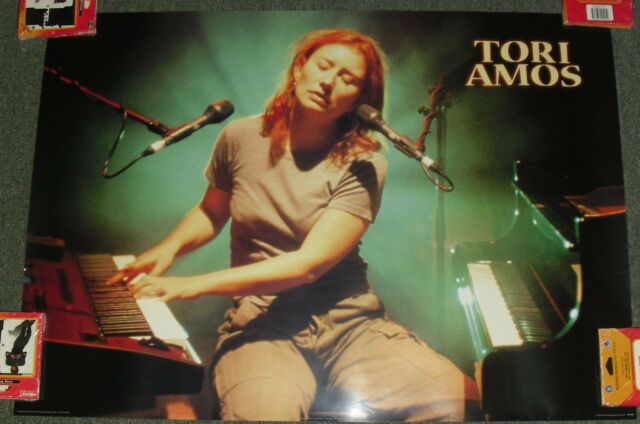 "1999 VINTAGE PLAYING PIANO POSTER *TORI AMOS* 24X34"" WH23 GREAT COND!! M"