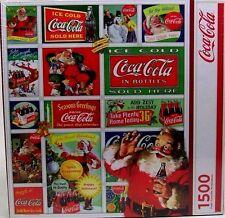 FACTORY SEALED SPRINGBOK SANTA'S COCA-COLA CHRISTMAS 1500 PIECE JIGSAW PUZZLE WO