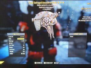 Fallout 76 oggetto (PS4) - Quad, esplosivo assaultron Head-potente Legacy