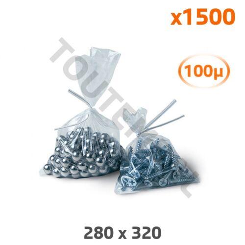 par 1500 Sachet haute résistance en plastique 280 x 320 mm 100 µ