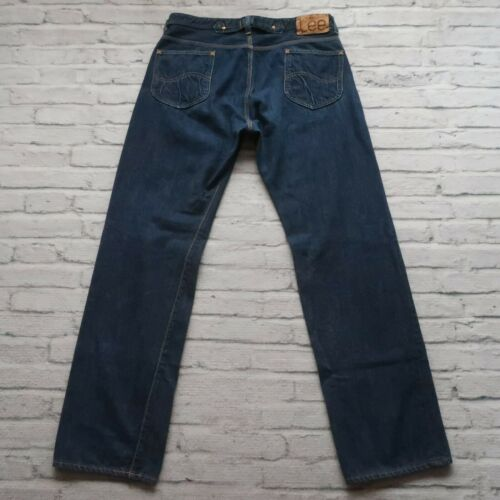 Lee 30s 40s Buckle Back Selvedge Denim Jeans Vtg S