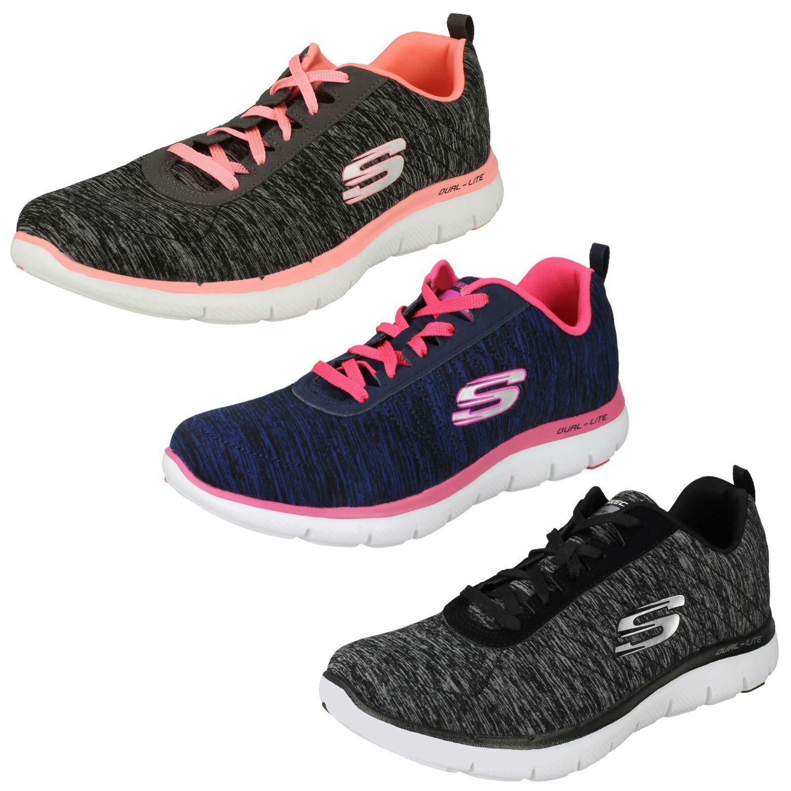 Ladies Skechers Memory Foam Trainers Flex Appeal - 2.0 12753