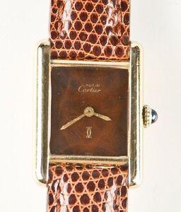 Must-de-Cartier-Ladies-Vermeil-Mechanical-Hand-Winding-Watch-Square-Dial-Gift