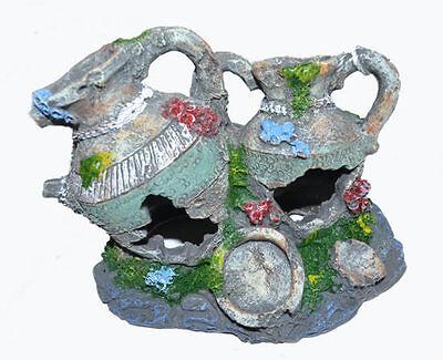 Honey 1 X Aquariumkannen Aquariumdekokannen Jugs Cave Fischhöhle Aquarium Cave Grey Fish & Aquariums Pet Supplies