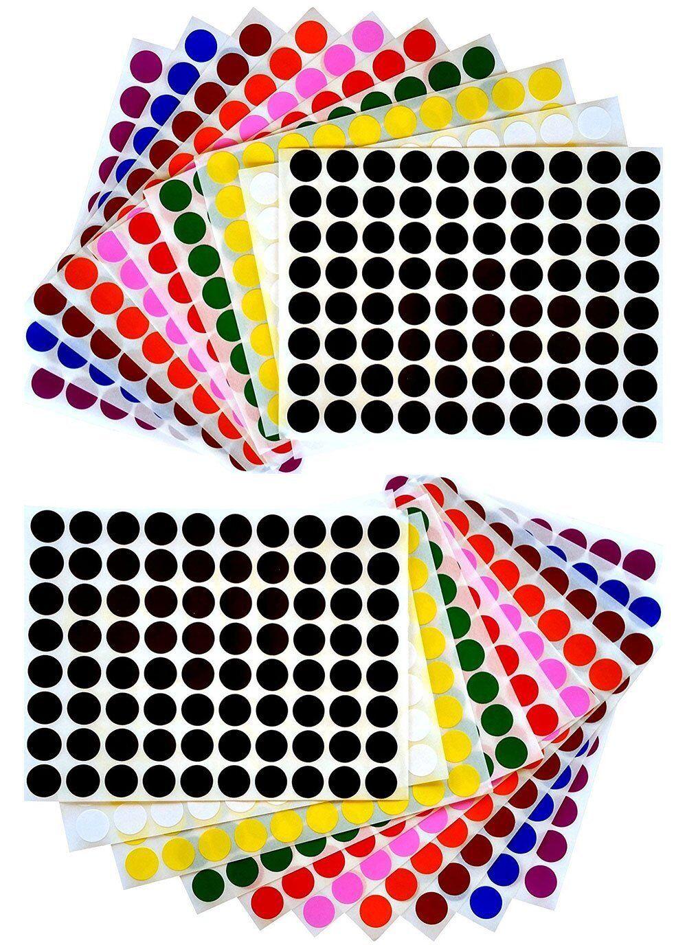 colour code Red 19mm dot//circular sticker x 150