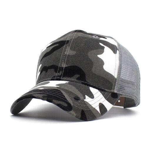 Sports Cap Hats Camping Outdoor Camouflage Baseball Half Mesh Camo Retro Style