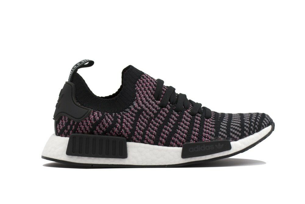 NEW CQ2386 MEN'S ADIDAS NMD_R1 STLT PK SHOES !! !! !! (BLACK / WHITE / ROSE) 2d80e9