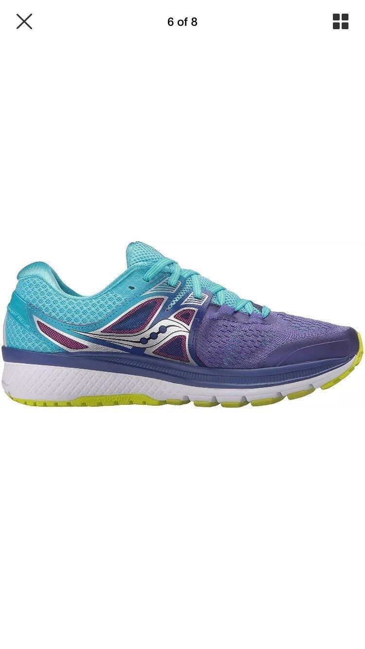 Saucony Triumph ISO 3 Running chaussures violet bleu citron S10346-1 femmes's Sz 7.5