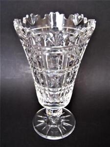 Waterford-Crystal-Celery-Vase-Signed-on-Base
