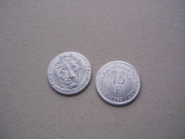 Congo / Kongo - 10 Franc Francs 1965