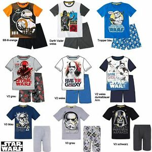 514c0fee6a Star Wars Kinder Shorty Pyjama Gr. 116-152 - Schlafanzug kurz ...