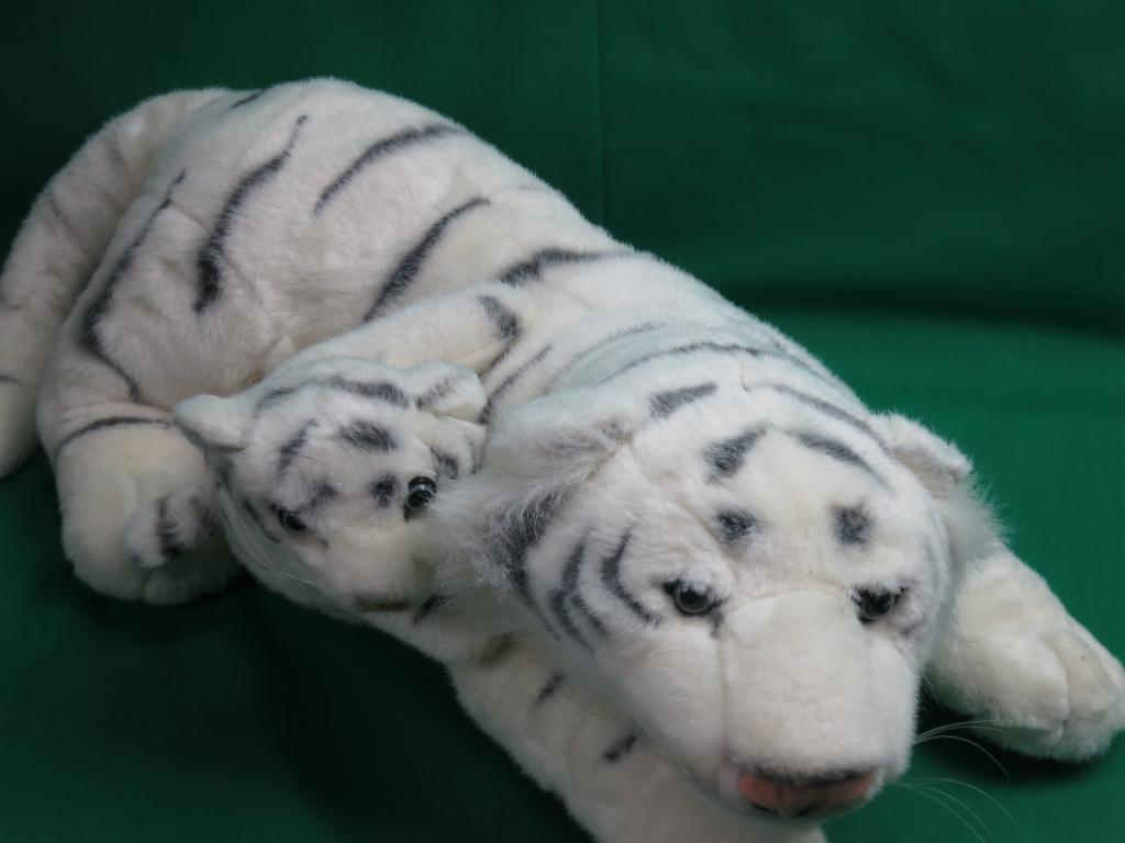 BIG NATIONAL WILDLIFE FEDERATION ALBINO Weiß BENGAL TIGER AND BABY CUB PLUSH