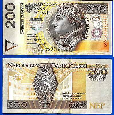 POLAND 200 ZLOTYCH 1994 P 177 AA PREFIX UNC