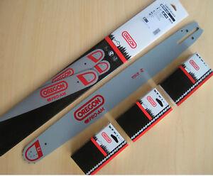 """Schwert 2 Ketten passend für Jonsered 2149 50 cm 325/"""" 78 TG 1,3 mm Sägekette"""