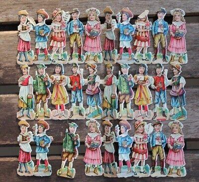 Papier & Dokumente Hell 30845 Oblaten Glanzbilder Kinder Jungen Mädchen Um 1900 Old Scraps Oblaten & Glanzbilder