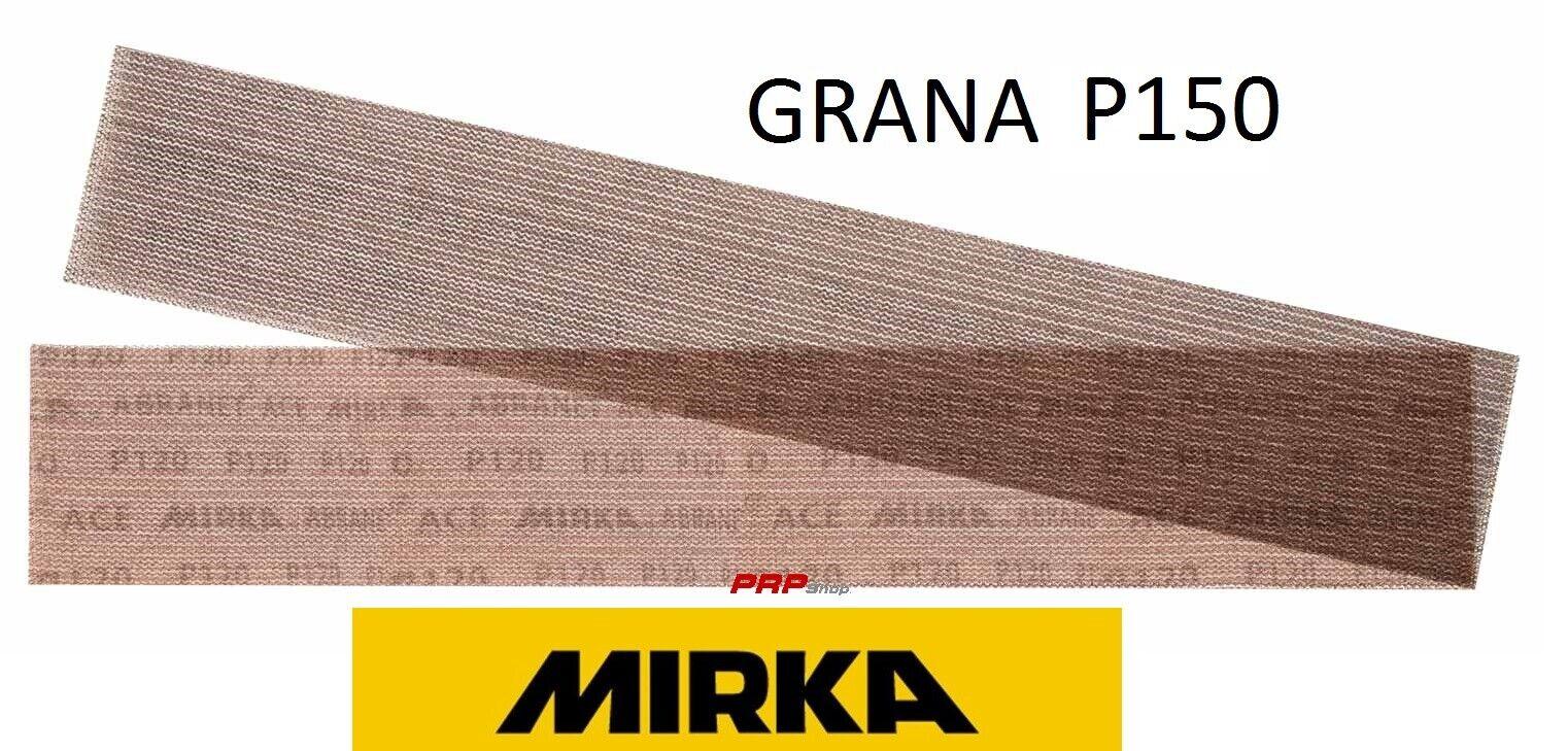 STRISCE ABRASIVE MIRKA GRANA 150 ABRANET 70x420mm Grip 50 FOGLI 5415105015