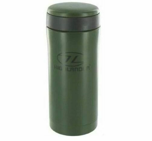 I2 HR INSULATED TRAVEL MUG VACUUM THERMAL FLASK Olive green hiking fishing cup