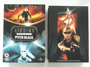 THE CHRONICLES OF RIDDICK & PITCH BLACK / UK RELEASE / DOUBLE DVD / REGION 2 & 4