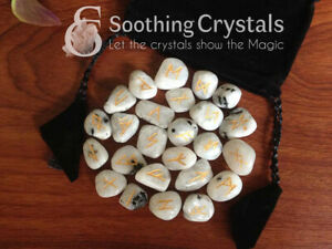 Rainbow-Moonstone-Runes-Set-for-healing-with-stylish-pouch-rune-set