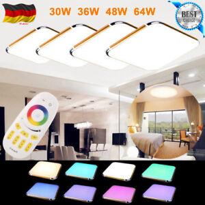 Das Bild Wird Geladen Floureon RGB LED Deckenlampe Deckenleuchte Wohnzimmer  Flur Fernbedienung