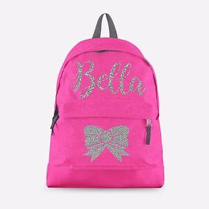 Personalised Kids Backpack - Any Name School Bag Dance Girls ...
