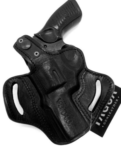 """TAGUA RH BLACK LEATHER THUMB BREAK OWB BELT HOLSTER for RUGER SP101 3/"""" REVOLVER"""
