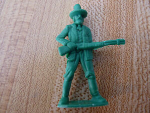 Special-Vintage-Plastic-Toy-1970-039-s-US-Marshall-Cowboy-Green-Figure