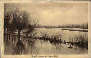 Feldpostkarte-1-Weltkrieg-034-Uberschwemmung-im-Aisne-Gebiet-034-Feldpost-alte-AK