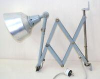 alte Midgard Scherenlampe R2, Werkstattlampe, Art Deco, Bauhaus, DDRP Design