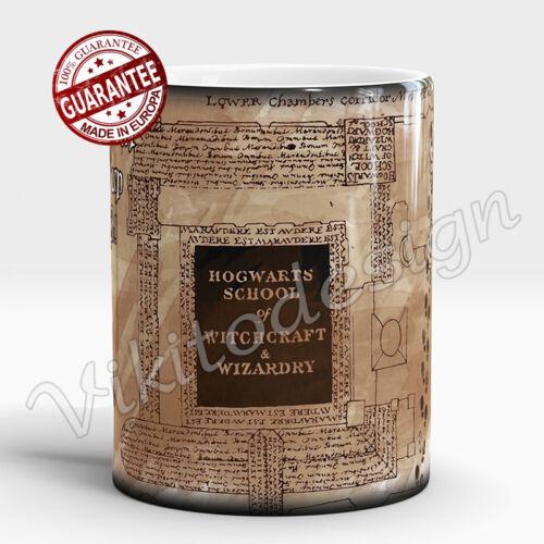Harry Potter Managed Heat Transforming Coffee Mug I Solemnly Swear marauders map