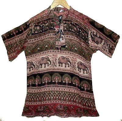 Indian cotton dress KURTI vintage ethnic EHS BLOUSE TOP WOMEN EHS hippie boho