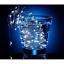 miniatura 4 - Serie luci a batterie Micro led Bianco Ghiaccio per albero di Natale filo rame
