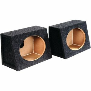 2-Atrend-6X9PR-6-034-x-9-034-Speaker-Boxes-Angled-Enclosures-MDF-Constructed-New