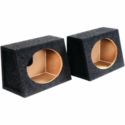 """2  Atrend 6X9PR 6/"""" x 9/"""" Speaker Boxes  Angled Enclosures MDF Constructed  New"""