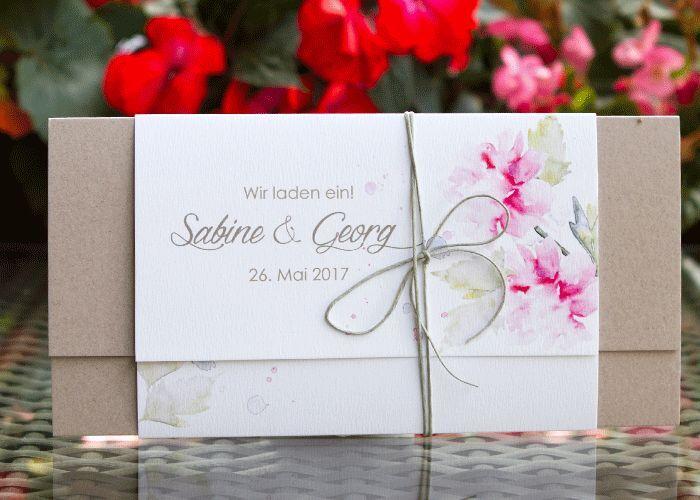 Einladungskarten Hochzeitskarten Hochzeitseinladungskarten HE079 & Umschlag
