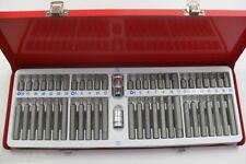Coffret 54 Embouts Vissage Allen Etoile Spline Torx Tamper Percé Chrome Vanadium