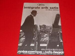 COLL-LE-BOURHIS-BALLET-DANSE-INTEGRALE-ERIK-SATIE-AFFICHE-OPERA-PARIS-MAI-1979