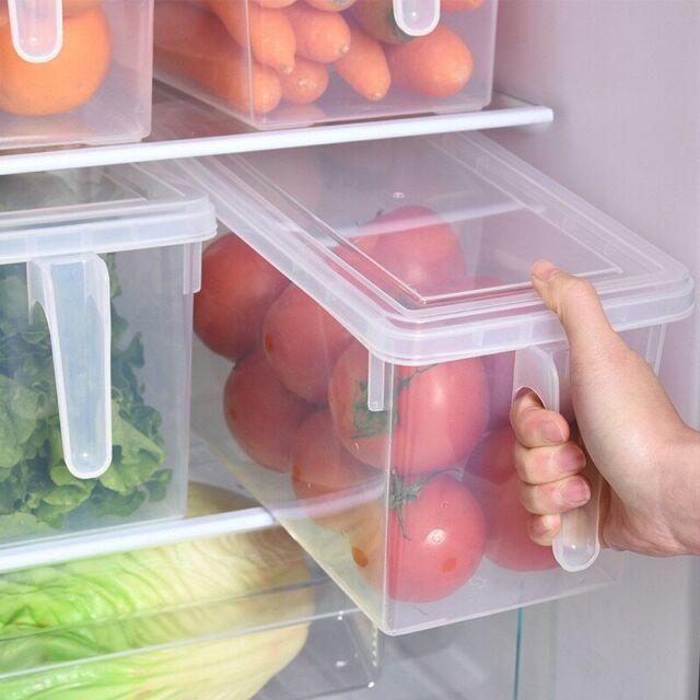 2-8 PCS Refrigerator Storage Box Food Container Kitchen Fridge Organiser Freezer